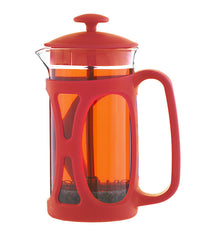French Press: GROSCHE Basel - Red, 350ml/11.8 fl. oz - Package of 4