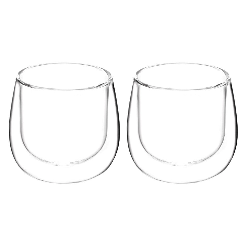 FRESNO Cups Double Walled Cup, Glassware,  without handle, 2 x 270ml, Package of 2