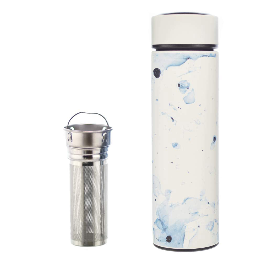 Travel Tea Infuser: CHICAGO- White Marble 450 ml/15.2 fl. oz - Pack of 4