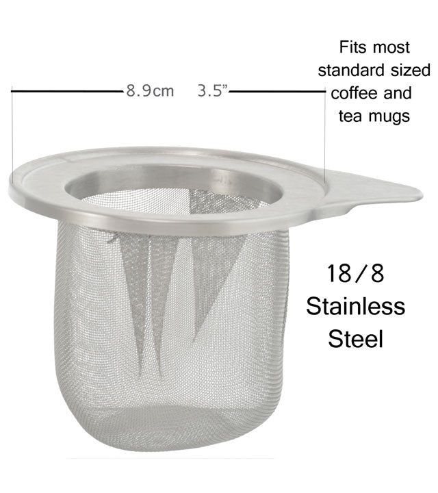 Tea Infuser: GROSCHE Laval - Laser Cut & Stainless Steel Mesh Infuser - Package of 4