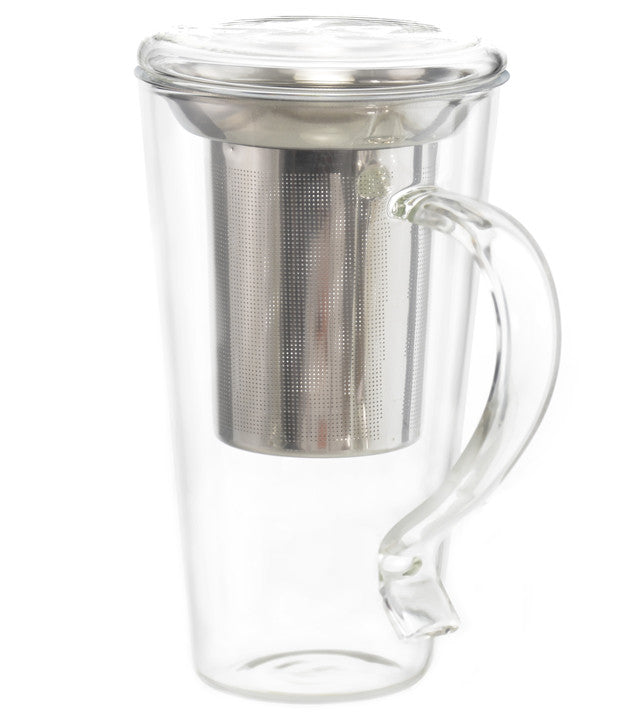 tea infuser mug wholesale canada glass tea mug supplier direct cup