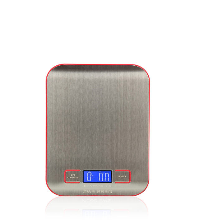 Digital Scale: GROSCHE Aprilia - Red, 11lb capacity - Package of 4