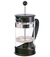 French Press: GROSCHE Dresden - 1000ml, 34 fl. oz, 8 cup, German SCHOTT glass, Eco-Friendly, 50% Recycled plastic - Package of 4