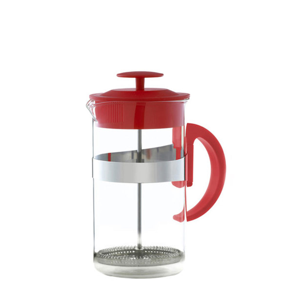 French Press: KAFFE MAESTRO Barista – Red, 3 cup size, Package of 4