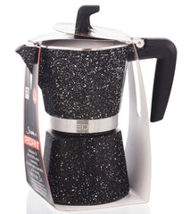 PEDRINI ITALY Stovetop Espresso Maker - Marble, avail. in 4 sizes, pack of 4