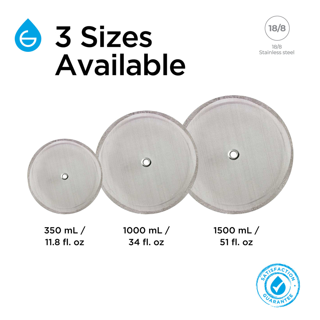 Parts & Accessories: Replacement Filter Screen - 1500ml - Package of 6