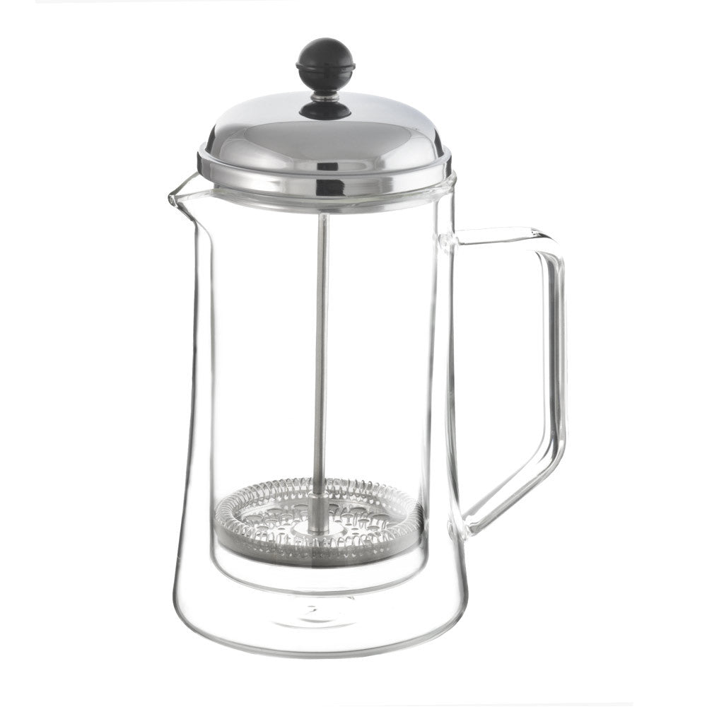 Stanford double walled glass french press, 1000 ml, 34 fl oz,  package of 4