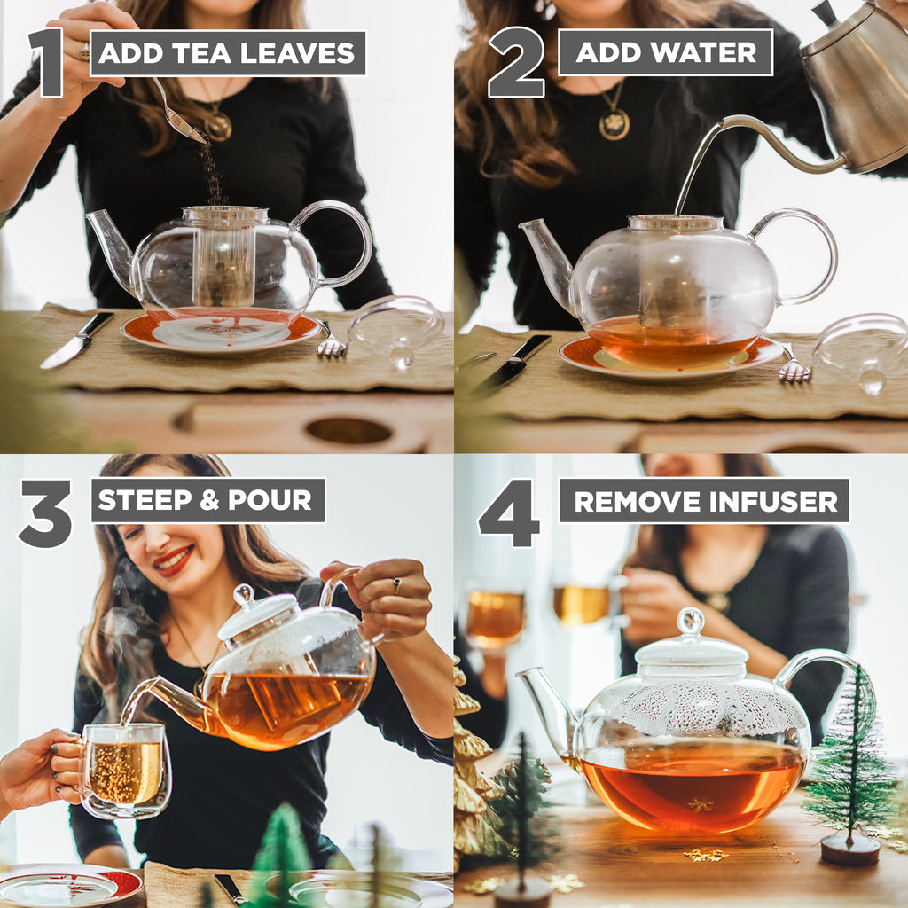 Infuser Teapot: GROSCHE Cambridge - 2 L/ 68 fl. oz - Package of 2
