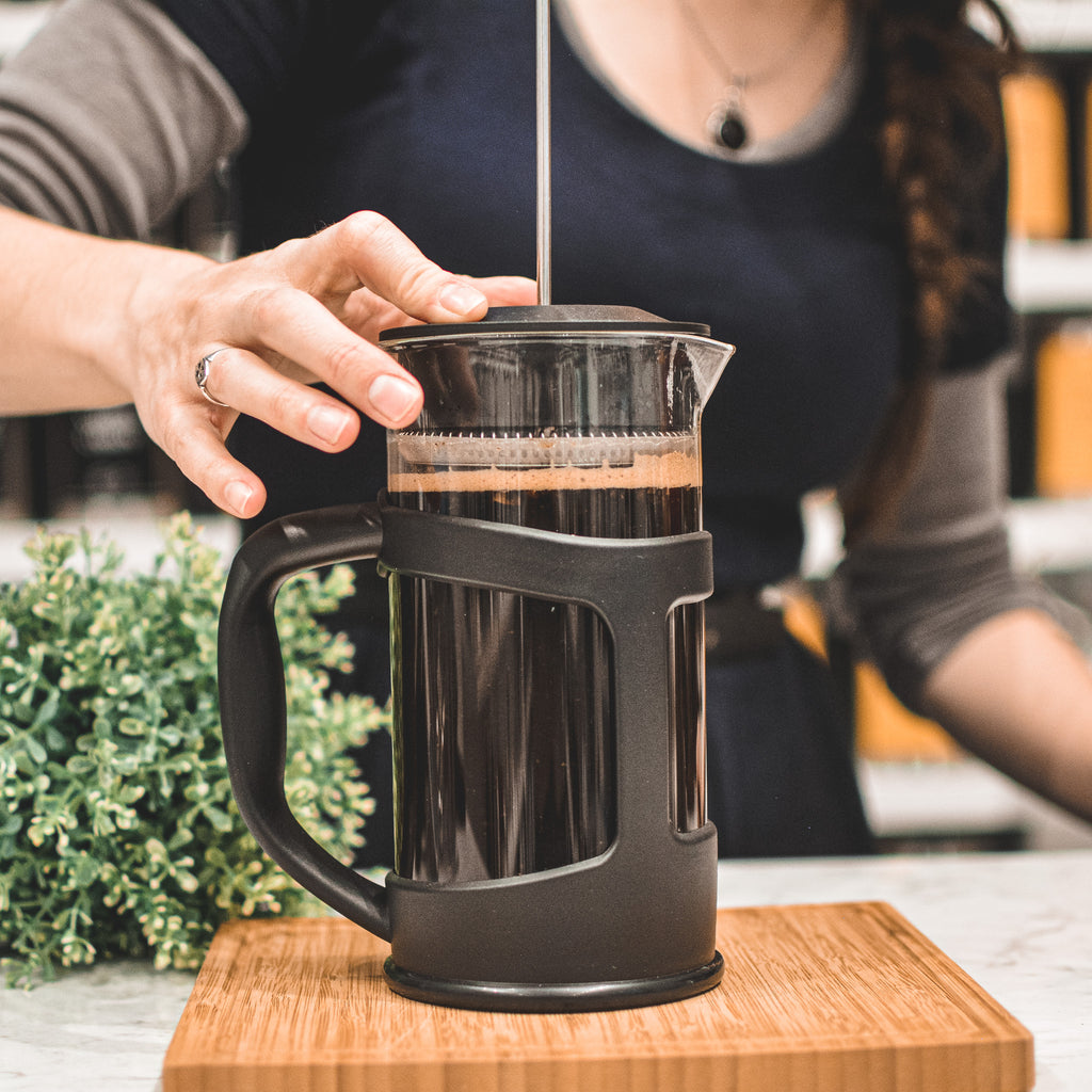 French Press: GROSCHE Terra - 1000ml, 34 fl. oz, 8 cup, Eco-Friendly, 75% Recycled plastic - Package of 4