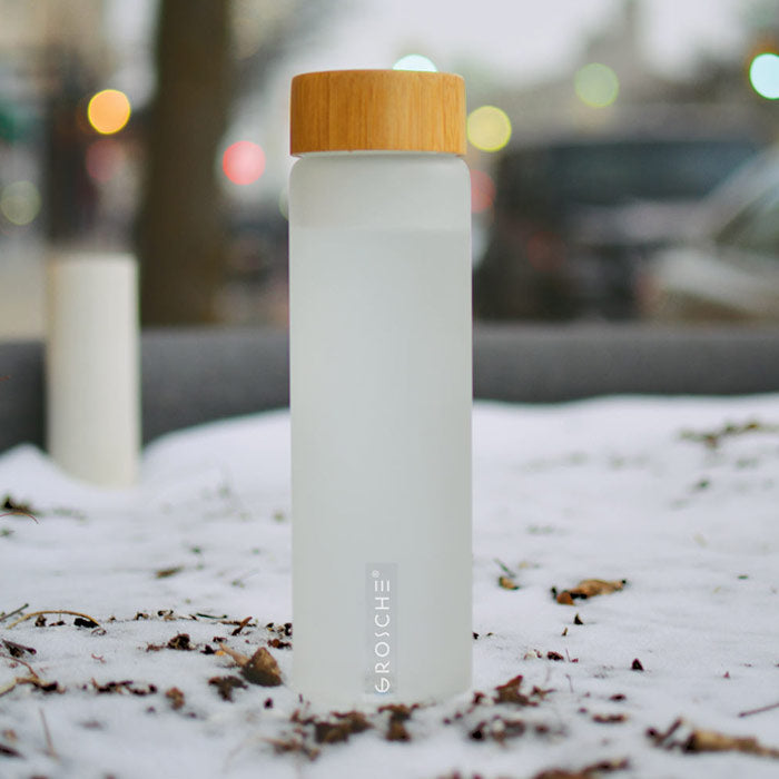 venice gr 387 glass water bottle frosted in the snow wholesale