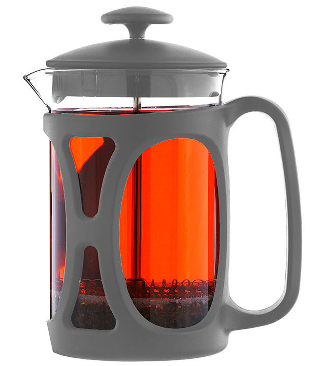 French Press: GROSCHE Basel - Grey, 6 cup/800ml/27 fl. oz - Package of 4