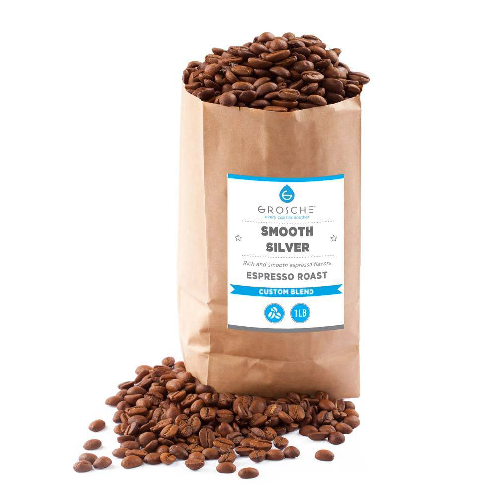 Espresso Smooth Silver Coffee - 2 x 1 lb roasted wholesale packs