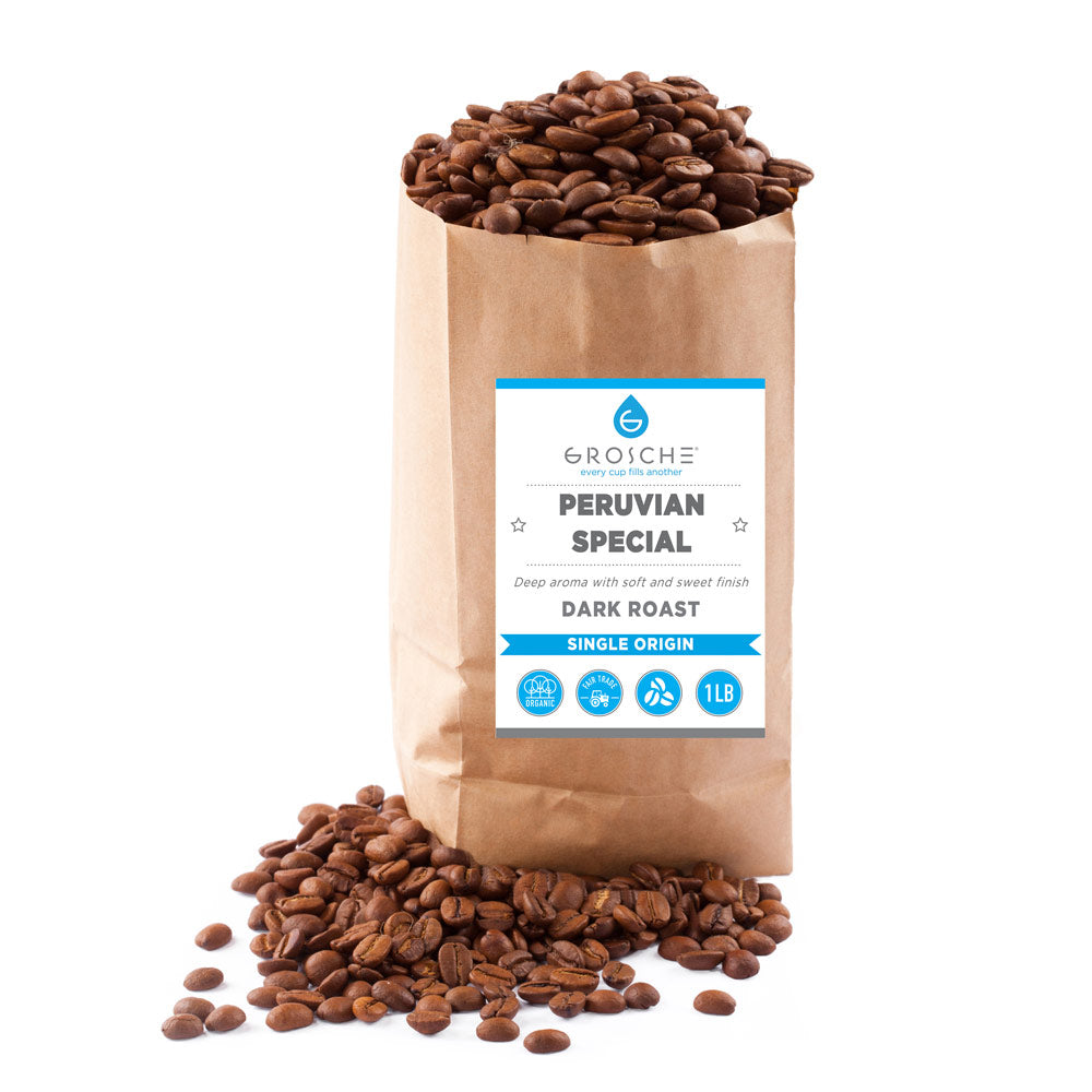 Peruvian Dark Roast whole bean Coffee - 2 x 1 lb bags wholesale