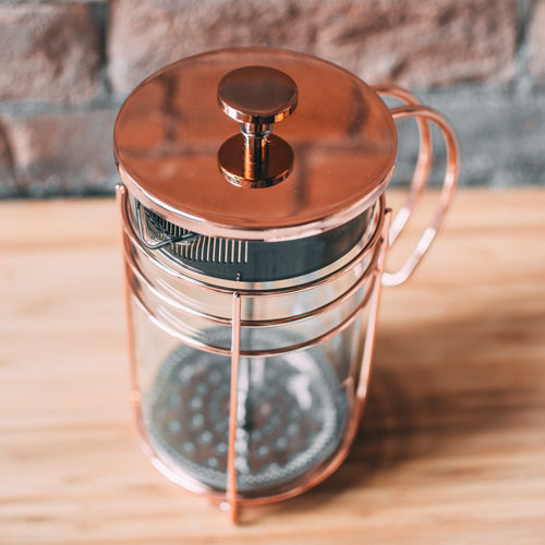 French Press: GROSCHE Madrid Rose Gold French Press - 1000ml/34 fl. oz/8 cup - Package of 4