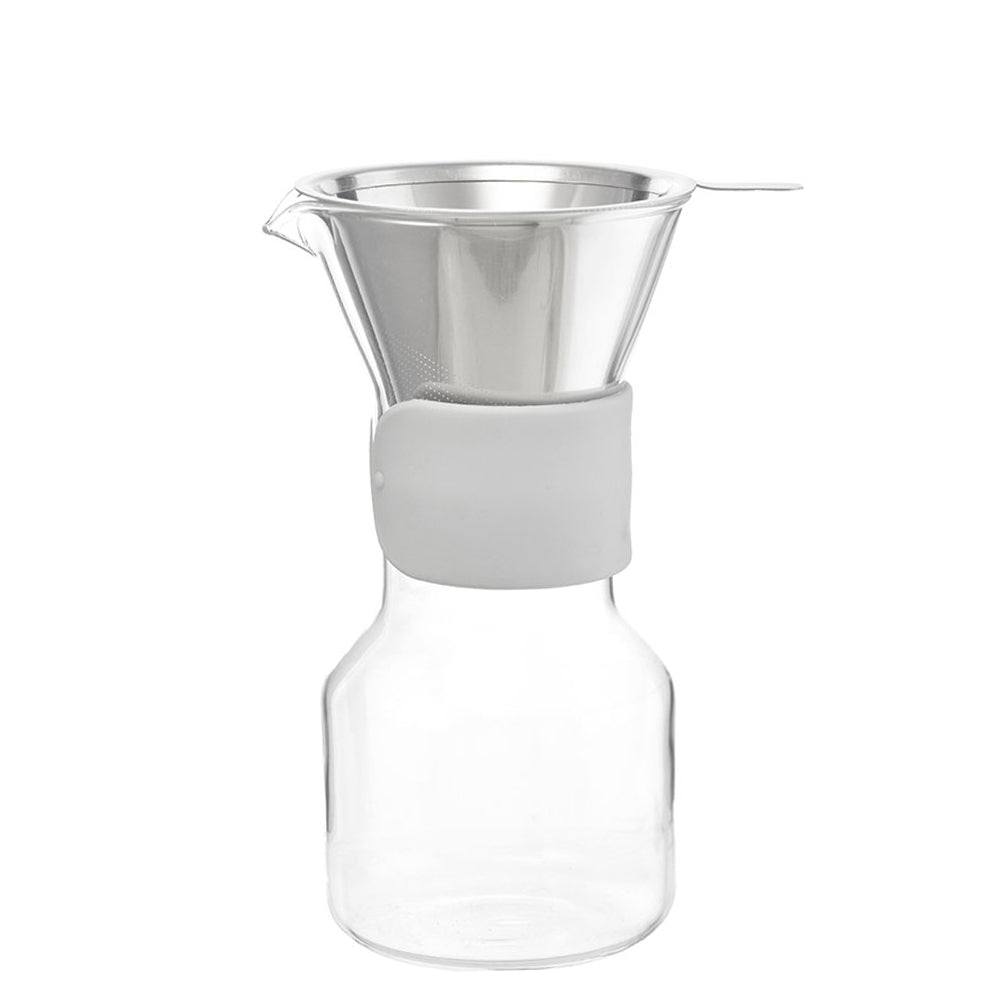 Coffee Dripper: GROSCHE Seattle Pour Over Coffee Maker - Grey Sleeve, 600ml/20 fl. oz, Package of 4