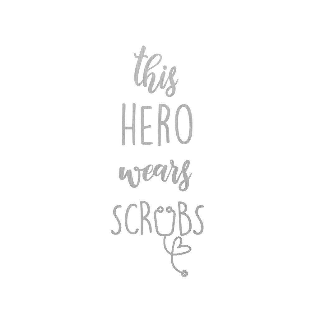 CHICAGO STEEL 16 fl. oz - This Hero Wears Scrubs (Custom Laser Etched) - Pack of 4