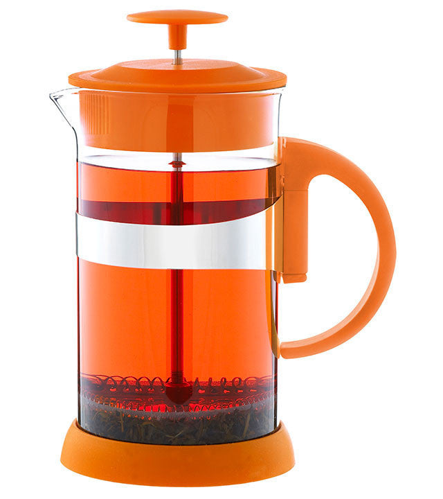 French Press: GROSCHE Zurich - Orange, 1000ml/34 fl. oz/8 cup - Package of 4