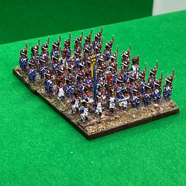 French Old Guard Grenadier Battalions in Greatcoats 102 6mm miniatures.