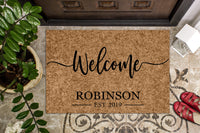 Welcome Personalized Last Name Doormat
