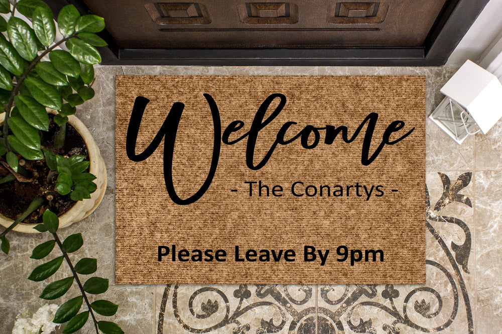 No Place Like Home Leave by 9 Personalized Custom Doormat