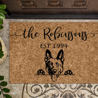 German Shepherd Personalized Custom Doormat