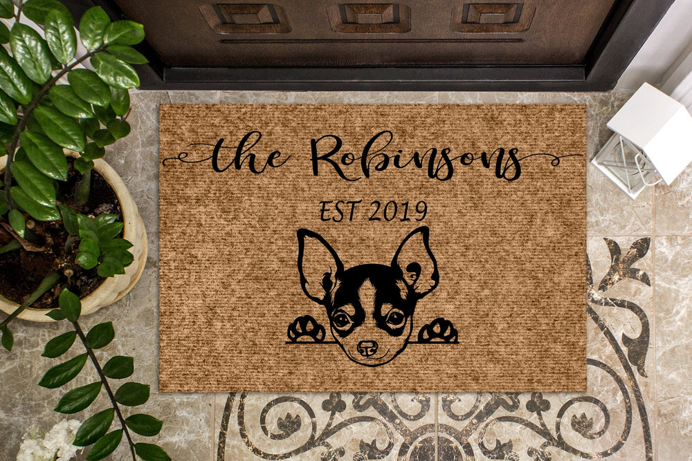 Chihuahua Puppy Personalized Custom Doormat