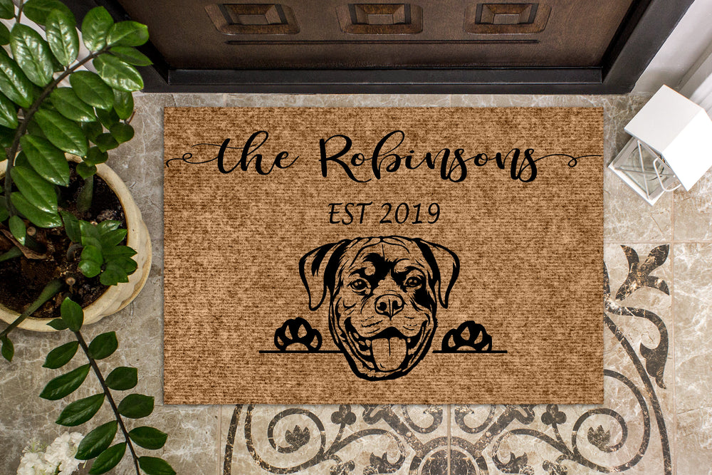 Rottweiler Personalized Doormat