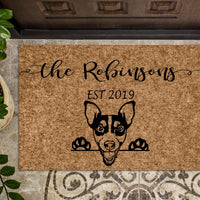 Jack Russell Dog Custom Personalized Doormat