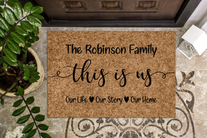 This Is Us Custom Personalized Doormat