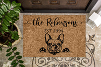 French Bulldog Personalized Custom Doormat