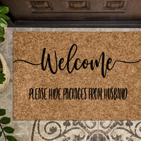 Please Hide Packages from Husband v2 Funny Doormat