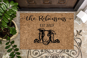 Australian Shepherd Personalized Custom Doormat