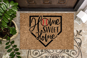 Baseball Themed Home Sweet Home Doormat