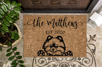Pomeranian Personalized Door Mat