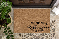 Mr & Mrs Custom Doormat