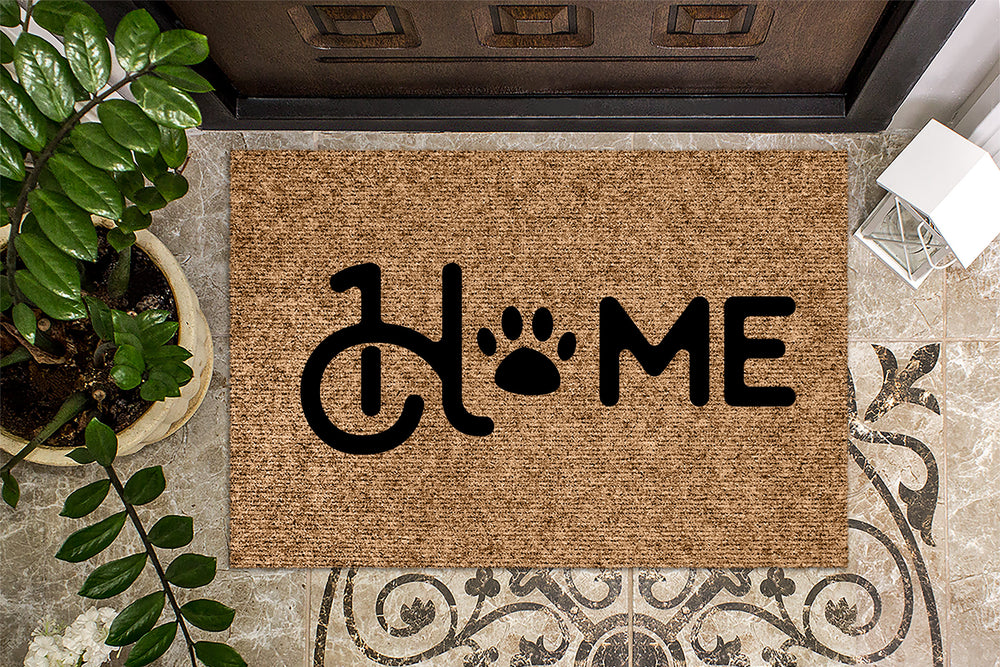 Home Pawprint Welcome Mat