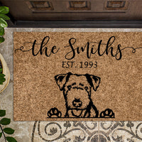 Lakeland Terrier Personalized Door mat
