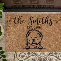 Bichon Frise v2 Personalized Custom Doormat