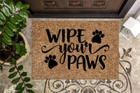 Wipe Your Paws v3 Funny Welcome Mat