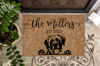 English Mastiff Personalized Custom Doormat