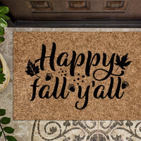 Happy Fall Y'all Door Mat