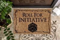 Roll For Initiative Door Mat
