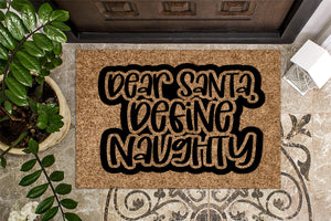 Dear Santa Define Naughty Christmas Doormat