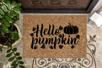 Hello Pumpkin Door Mat