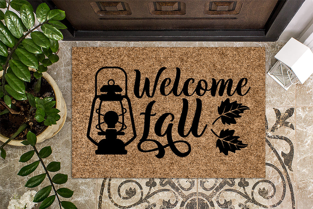 Welcome Fall Lantern Door Mat Fall Doormat