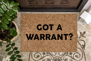 Got a Warrant Funny Doormat
