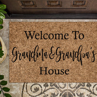 Welcome to Grandma and Grandpa's House  Grandparents Doormat