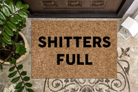 Shitters Full Funny Christmas Doormat