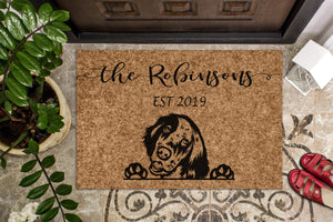 English Setter Personalized Custom Doormat