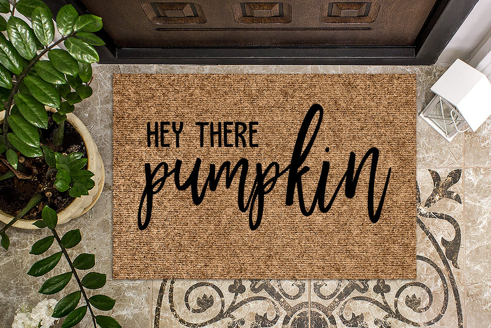 Hey There Pumpkin Door Mat